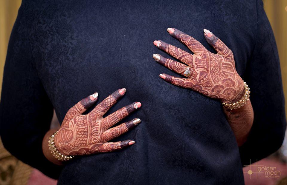Glittering Bridal Full Hand Mehndi