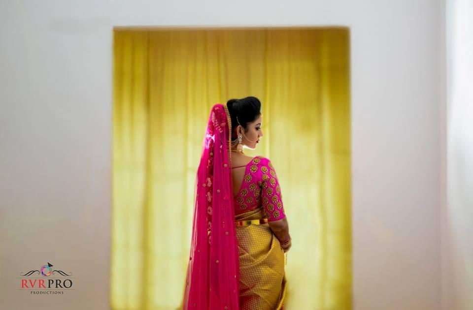 Elegant and happy bride