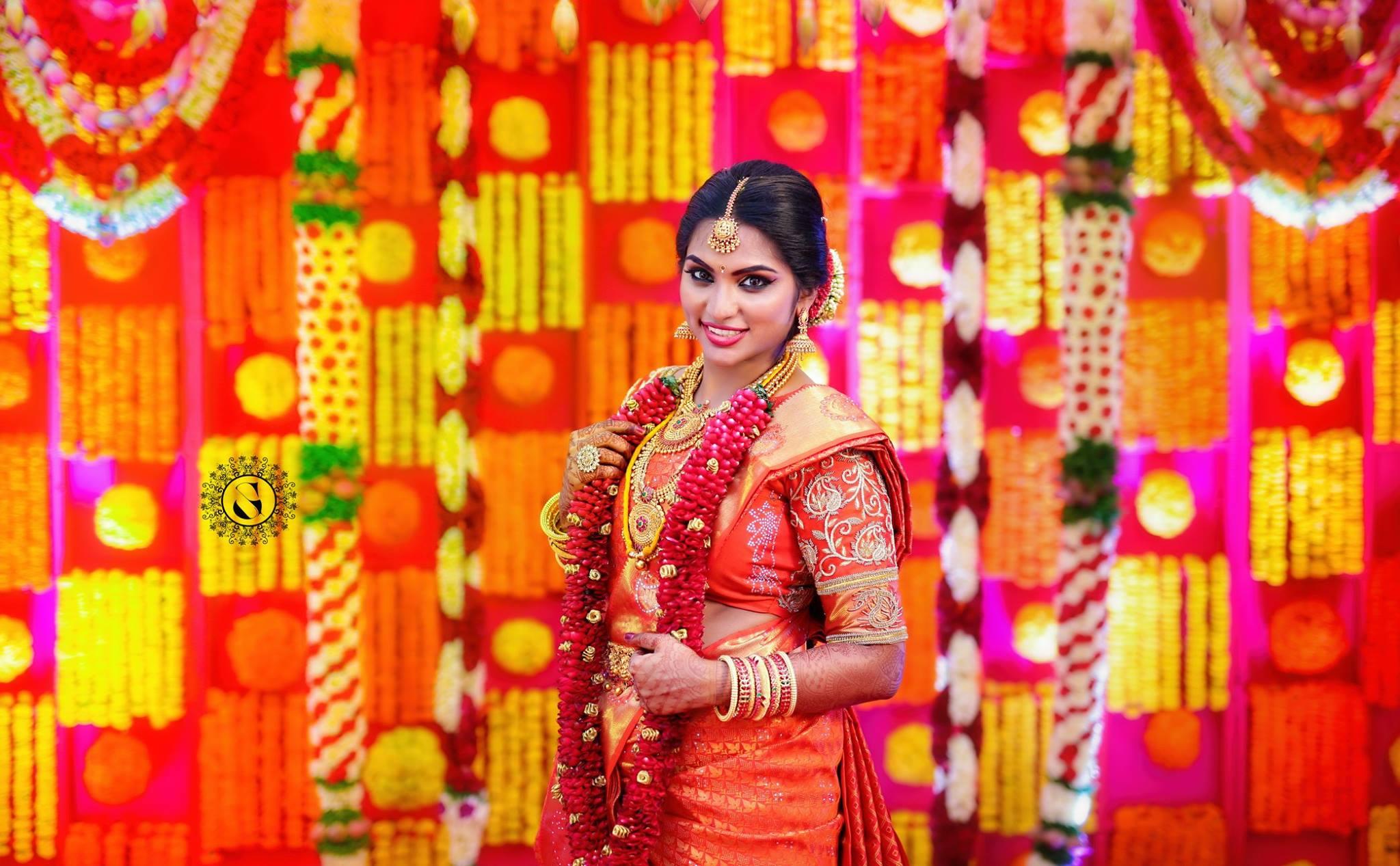 Nice Orange silk saree