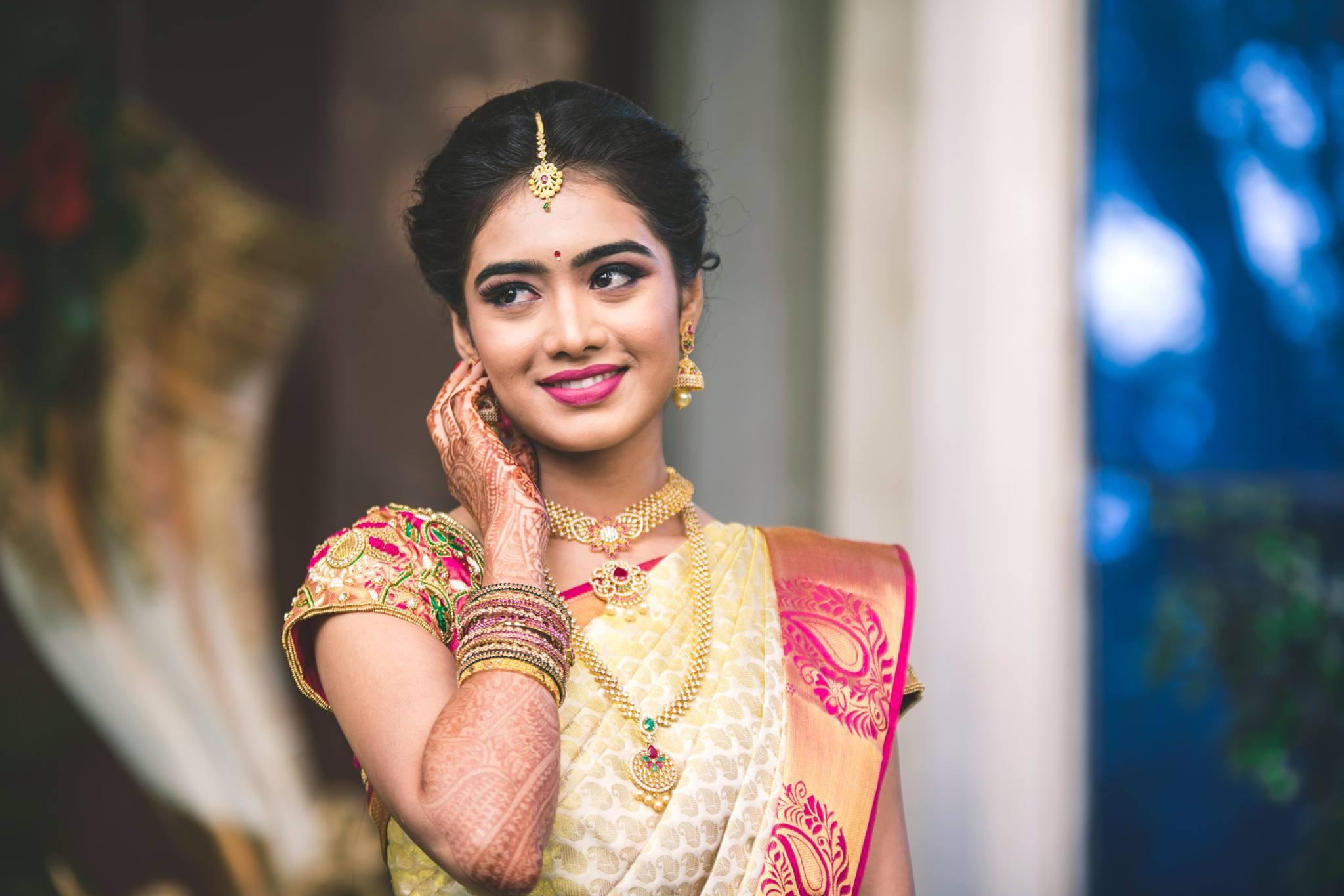 Pretty Bride look