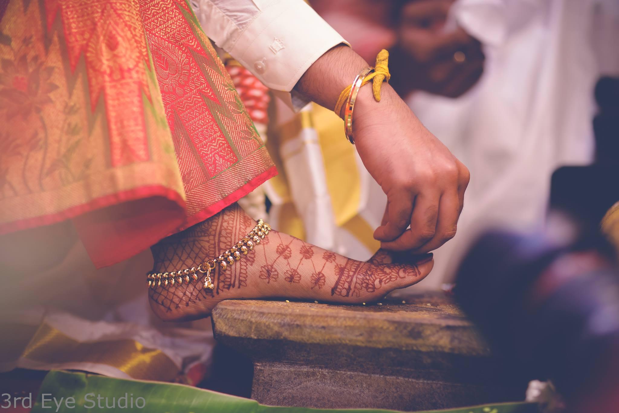 Golden Mango Anklet