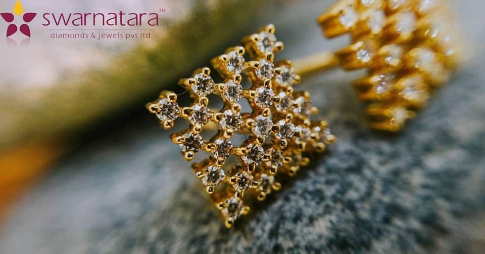 Light Weight diamond earring