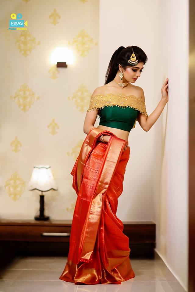 Super Cute saree drape