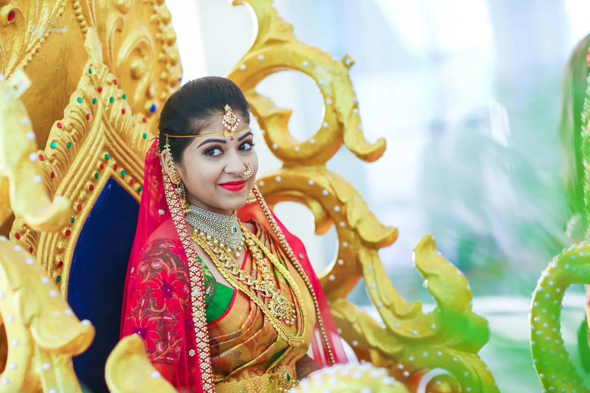 Golden Bridal beauty