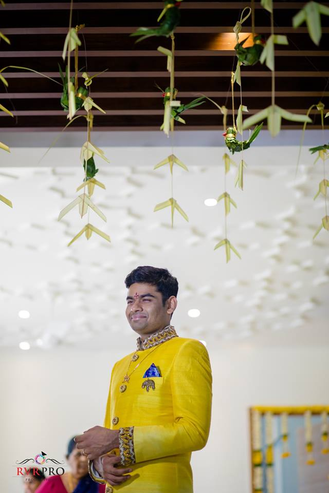Yellow Groom Sherwani