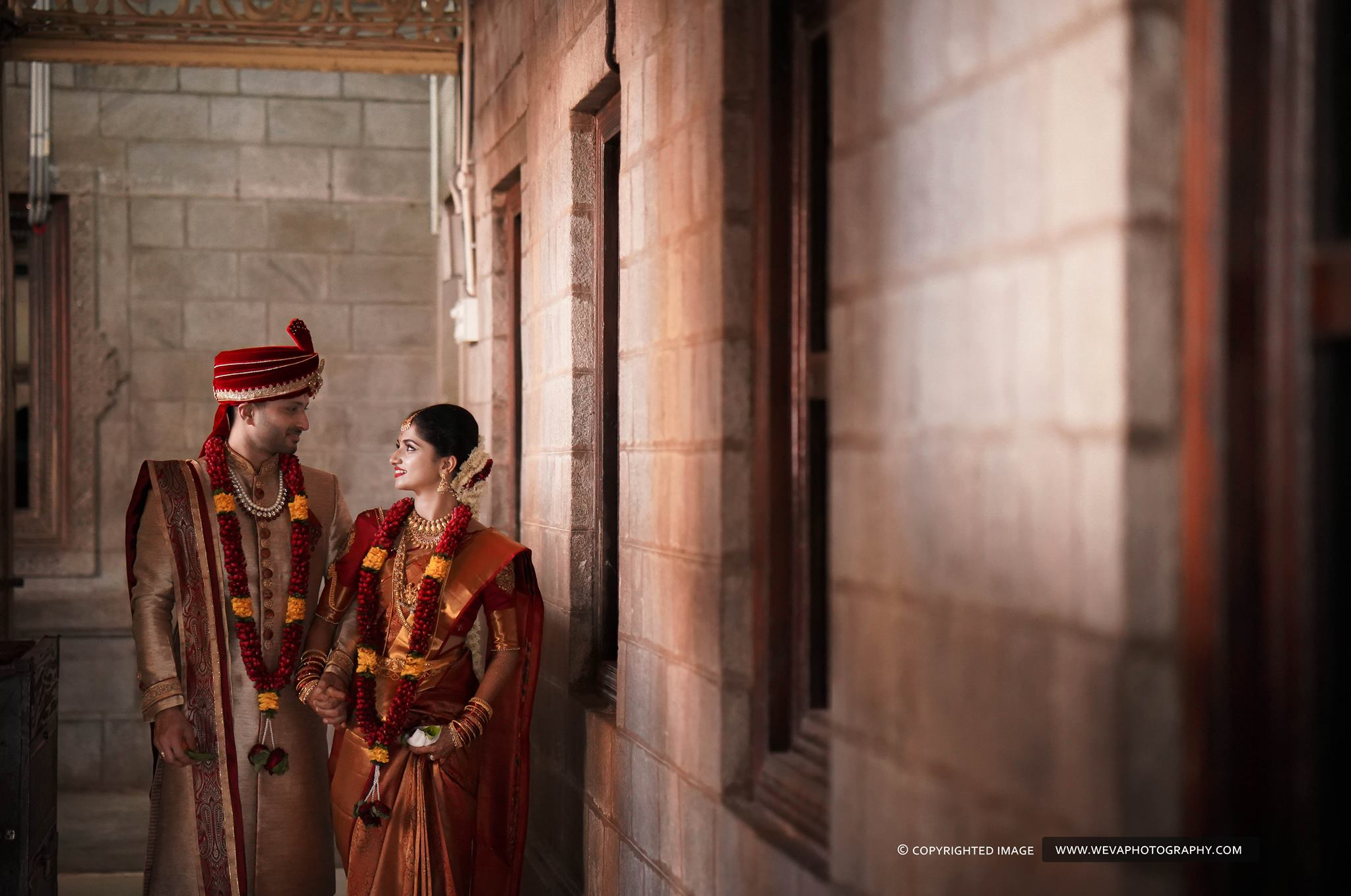 Traditional red Groom Sherwani