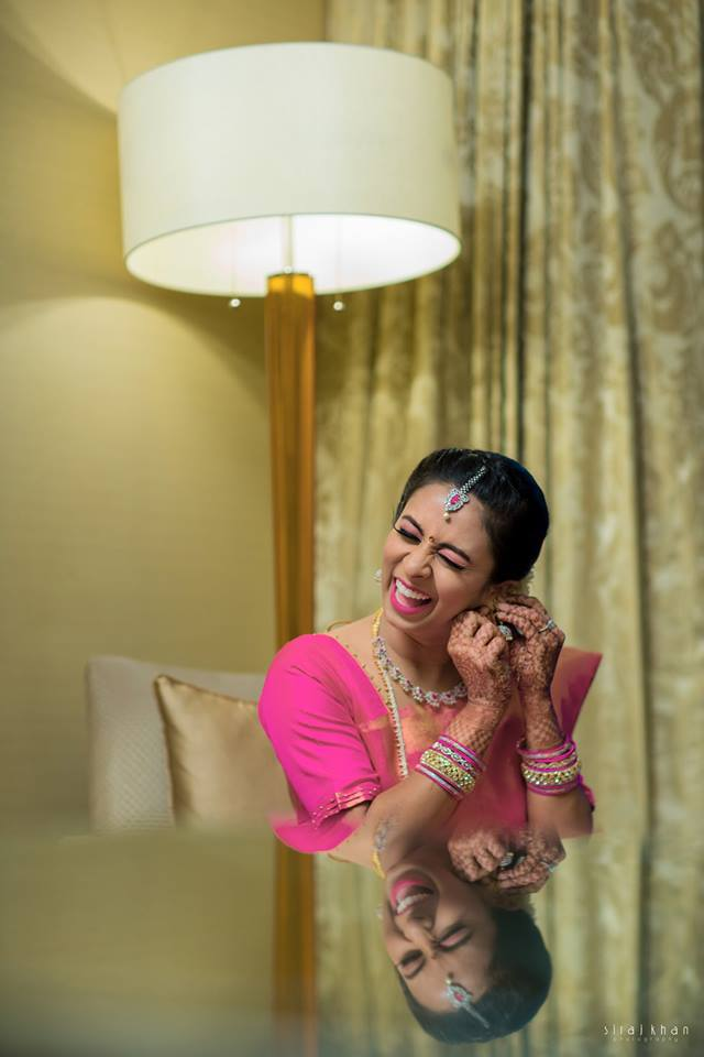 Pretty Smile of a cute bride