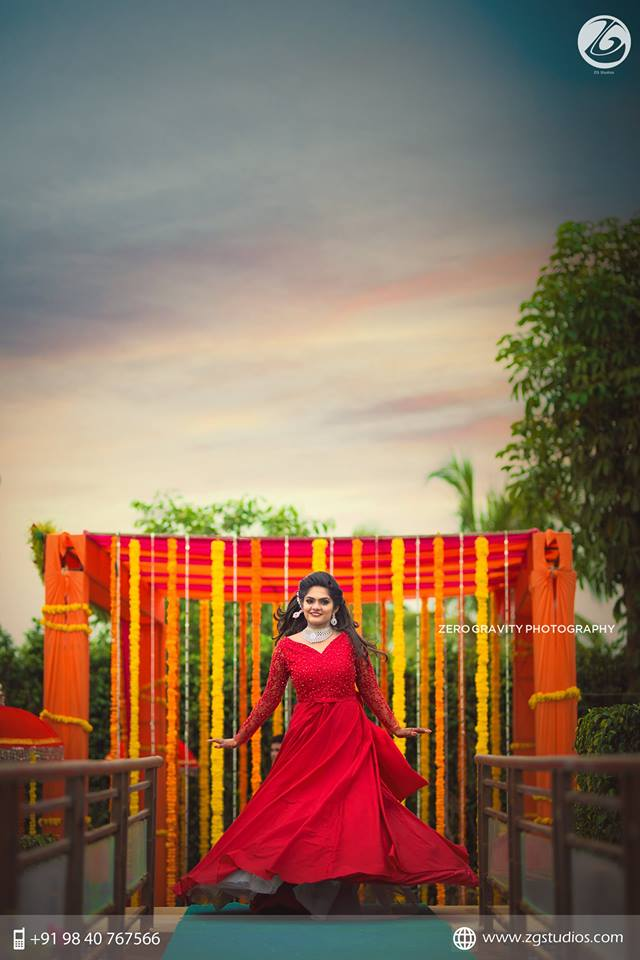 Exotic Bridal Red Gown