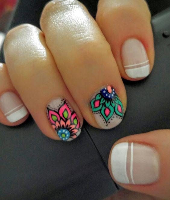 Rangoli Nail Art