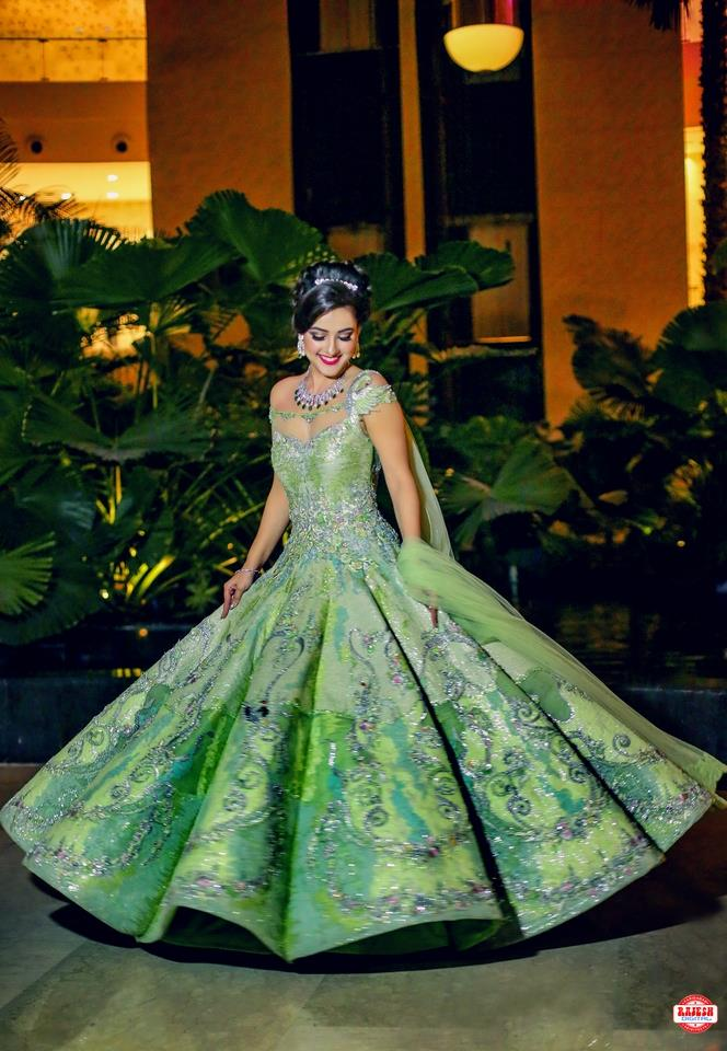 Royal Bridal Green Gown