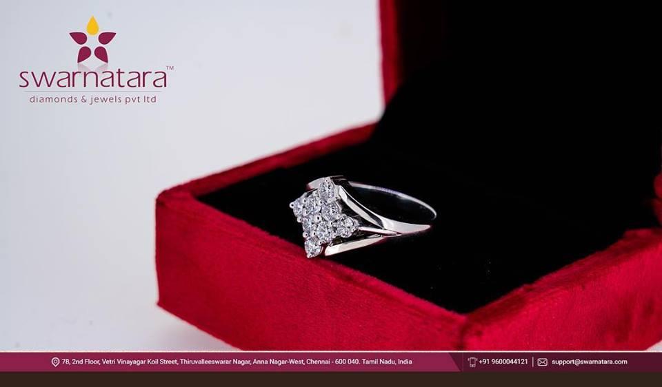 8 diamond stone with platinum ring