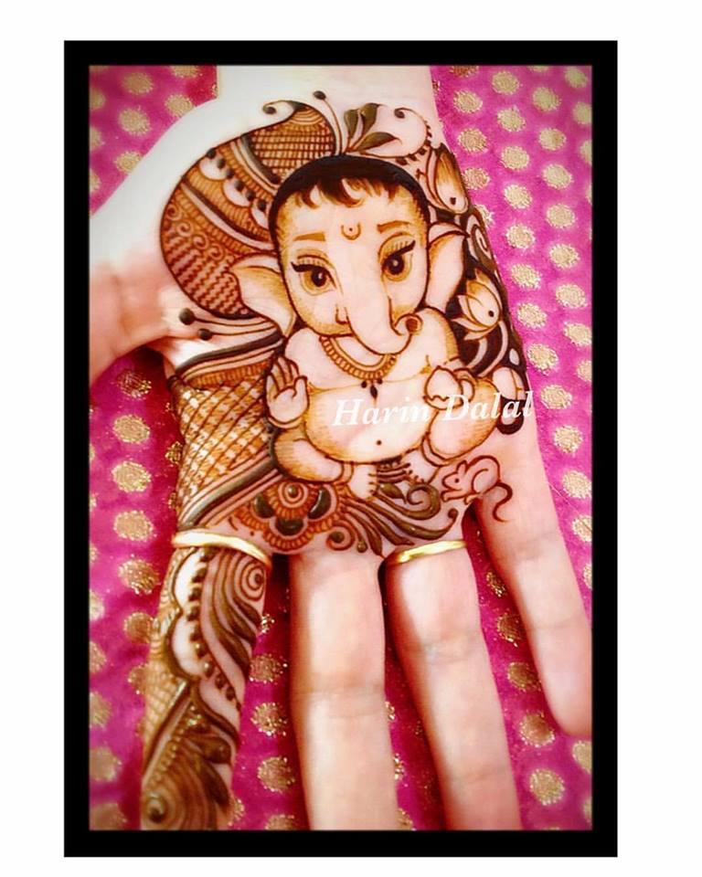 Cute Ganesha Arabic mehndi