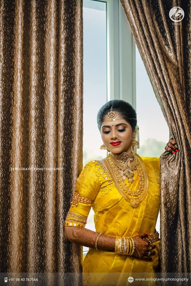 Gorgeous Yellow silksaree