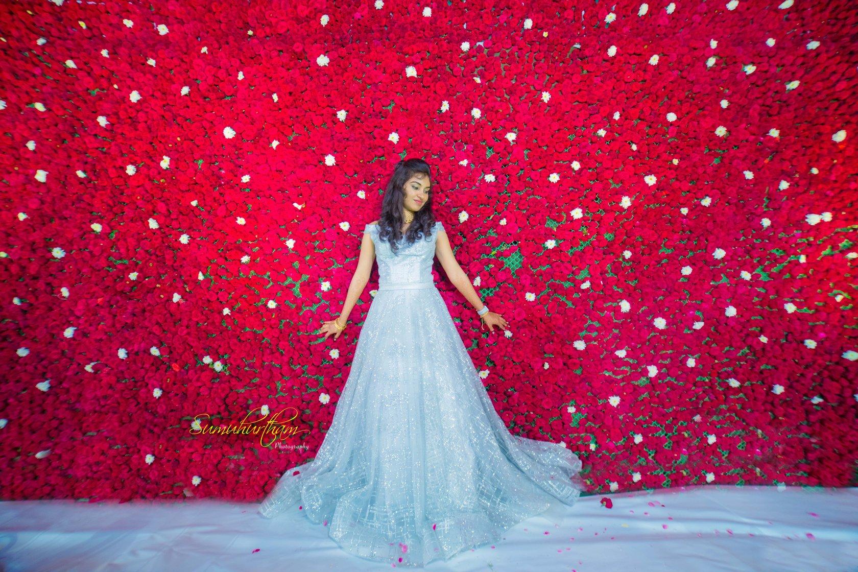 Bridal wedding gown Light blue
