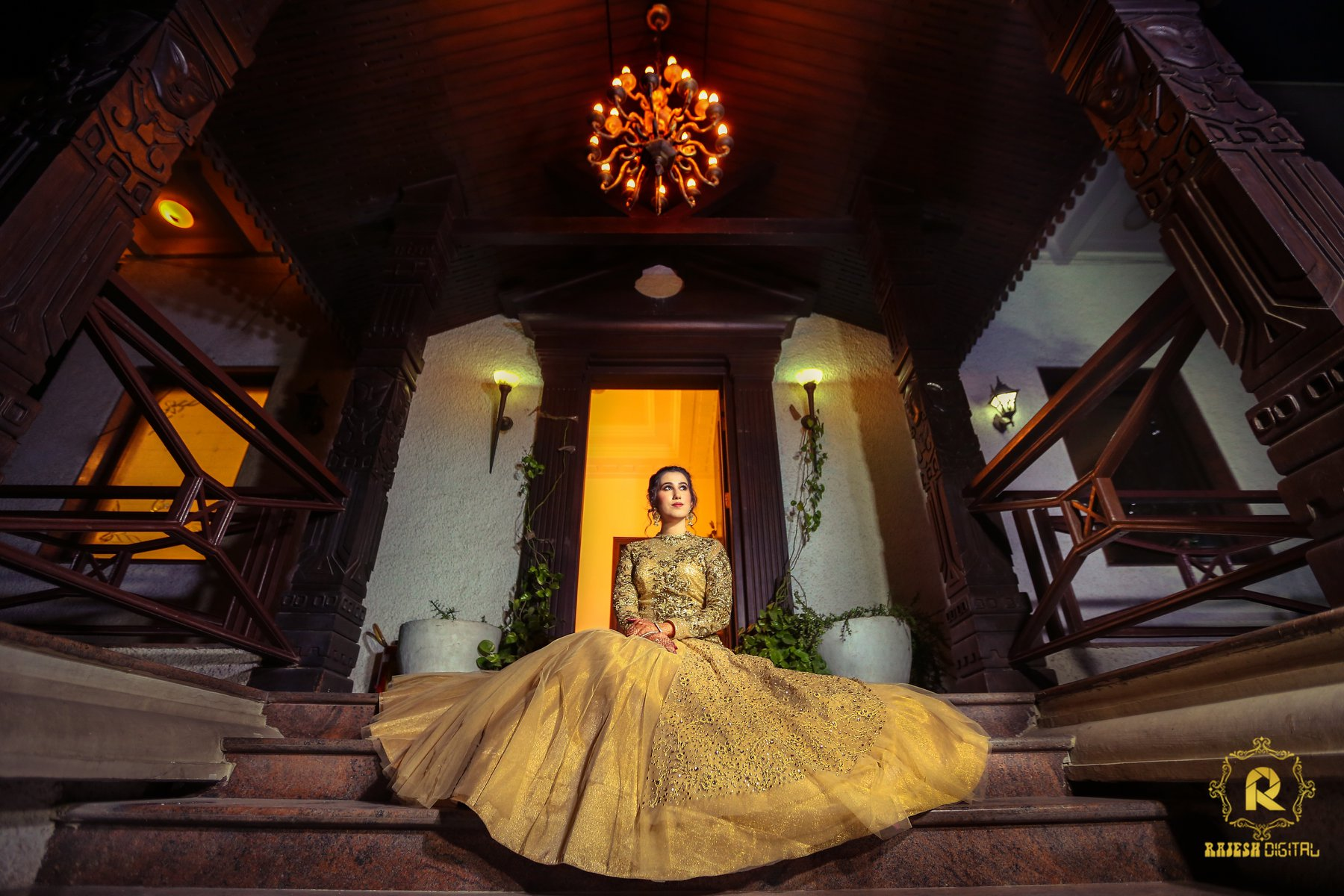Golden Bridal Gown