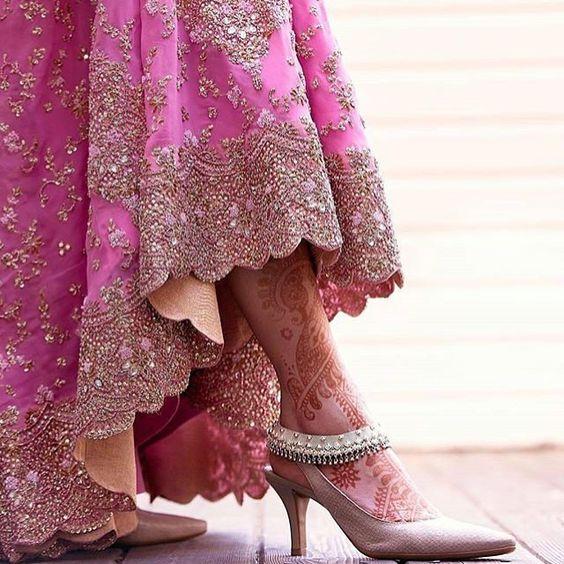 Plain Beidge Color Bridal Heel
