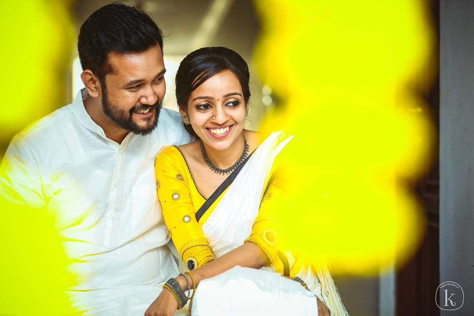 Yellow theme couple portrait