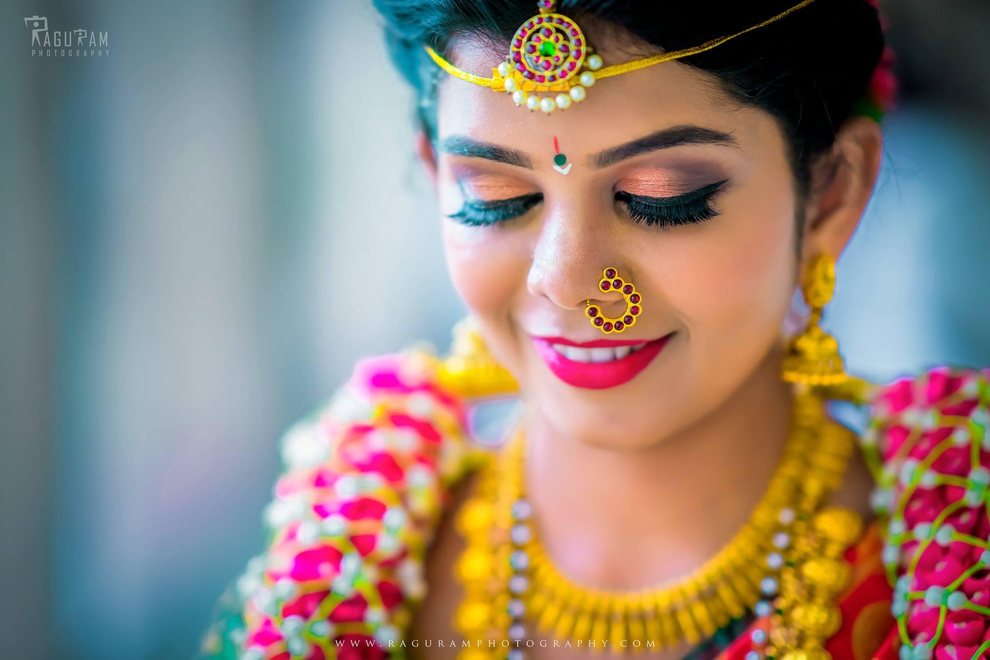 Beautiful Red Kundan Nose Pin