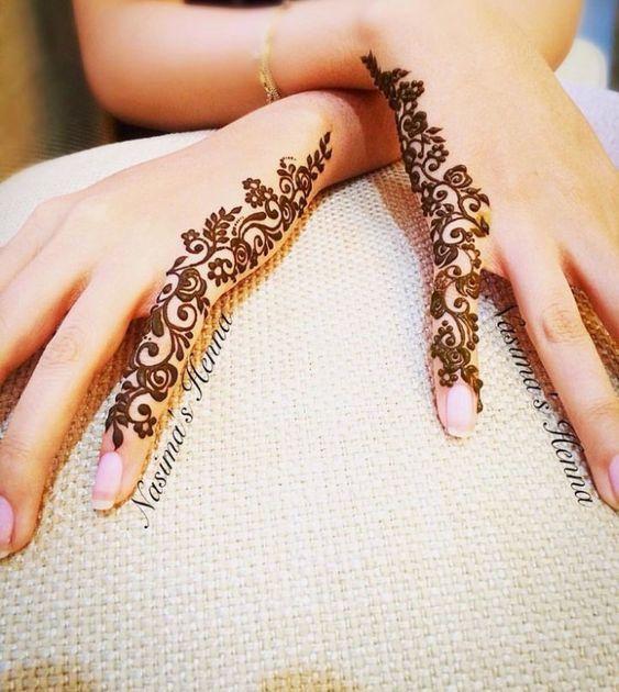 Trendy Finger arabic henna