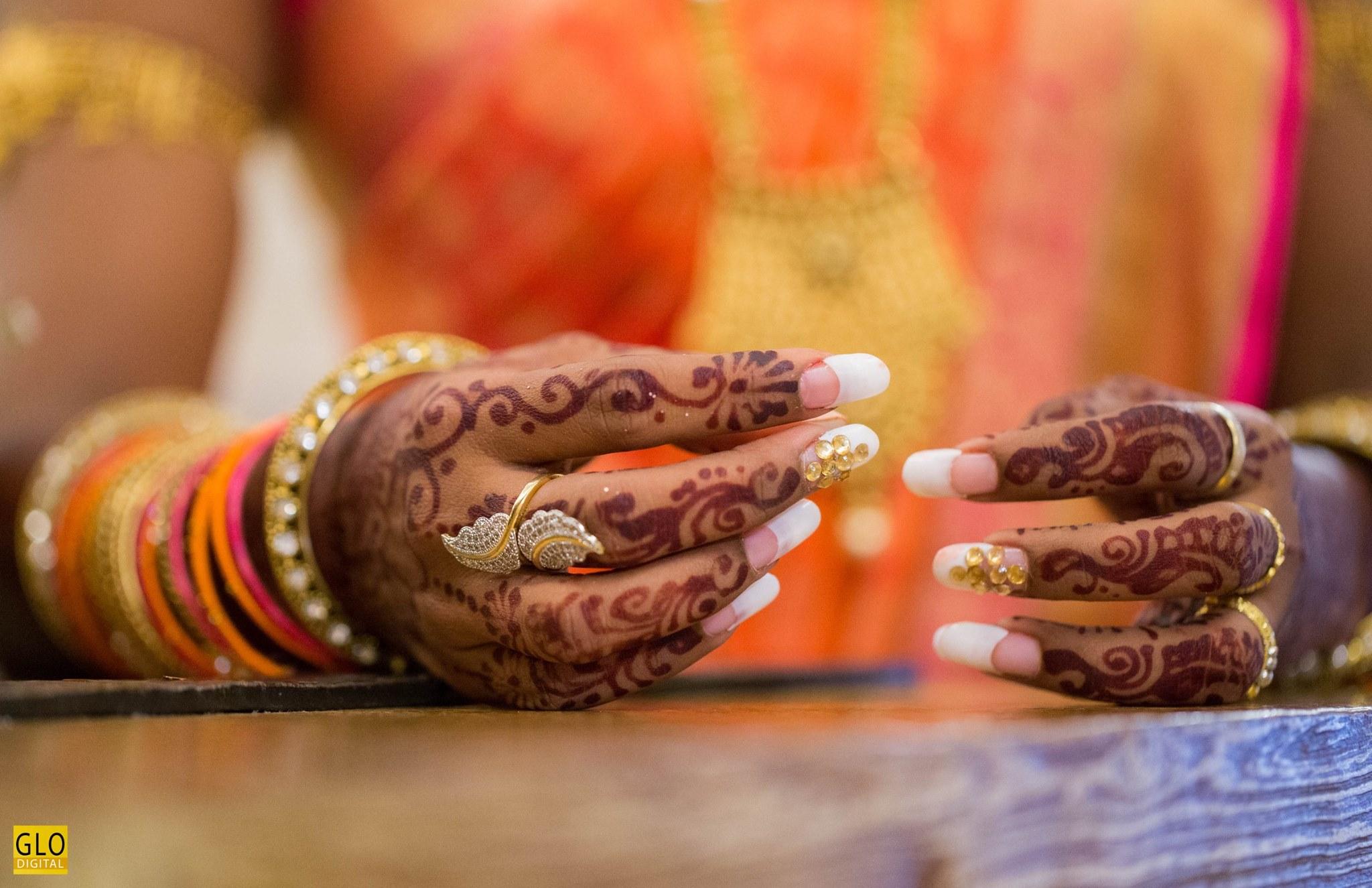 Bridal Stone Nail Art