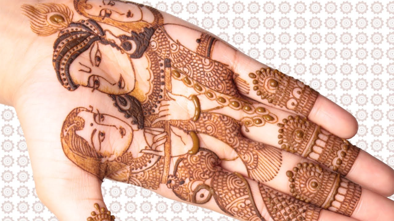 Krishna with Gopis Mehndi Design For Hands | Step by Step Tutorial
