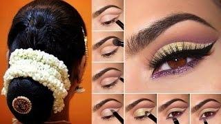 Indian Bridal Makeup Hairstyle & Saree Draping Step By Step