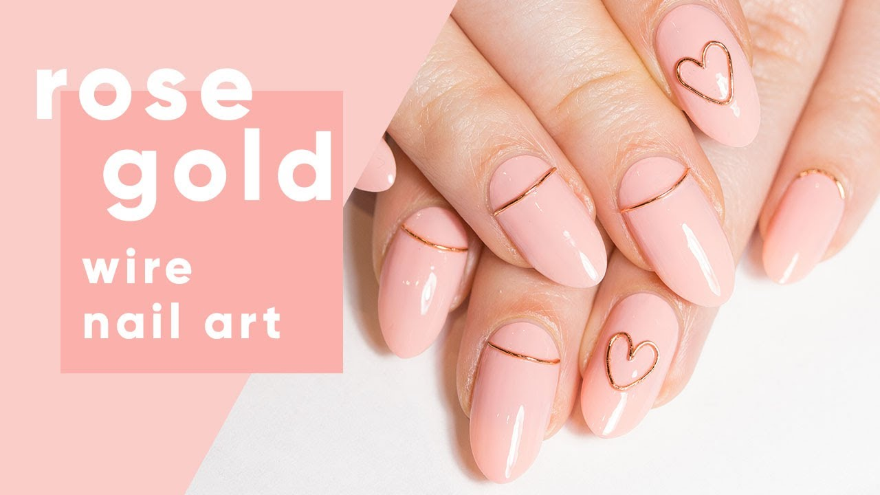 How To: Rose Gold Wire Nail Art