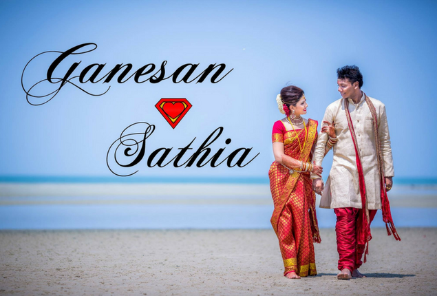Malaysian Indian beach wedding | Ganesan + Sathia
