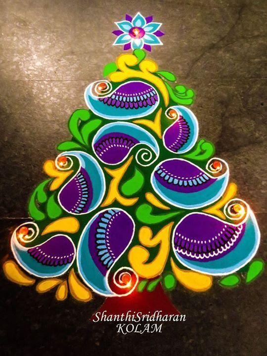 Marvellous Christmas Rangoli