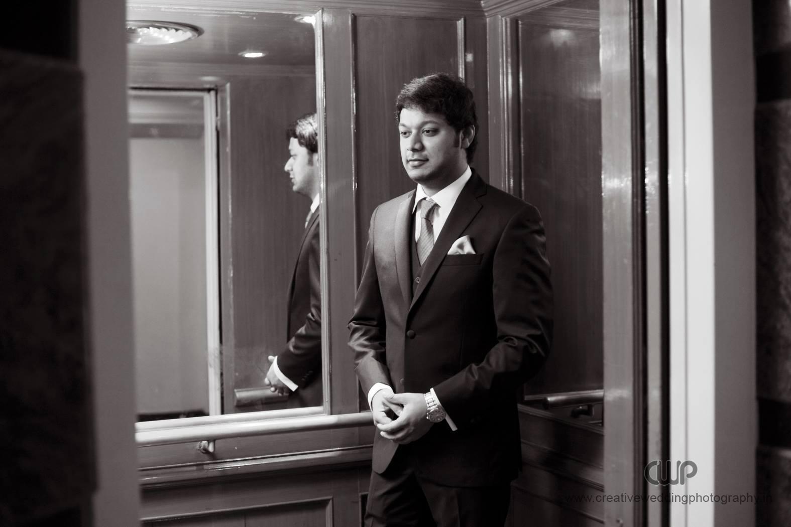 Grey wedding suit