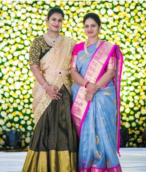 Lovely bride with her mom