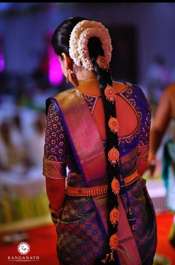e2db0766e4733a Pretty Bridal Back blouse design