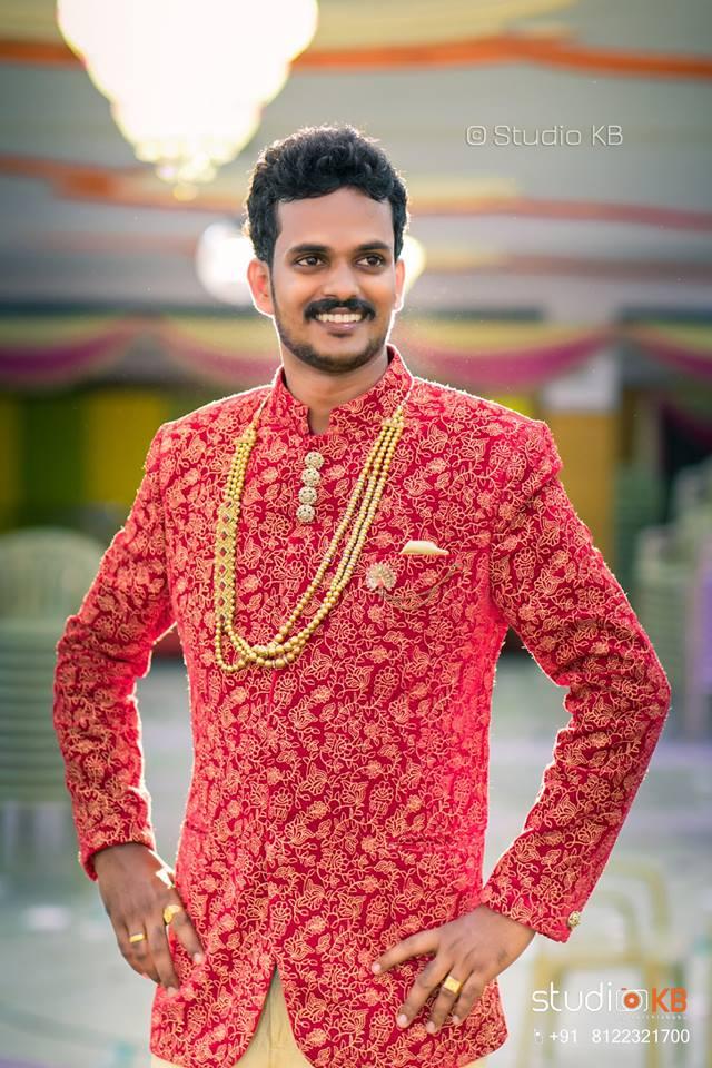 Red Designer sherwani