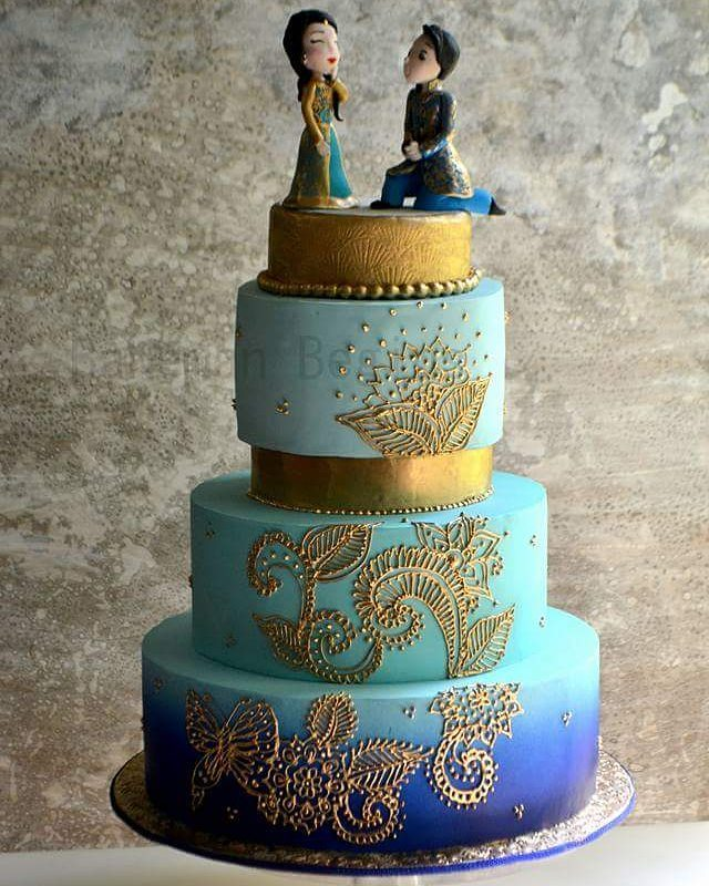 Bride And Groom wedding Henna cake
