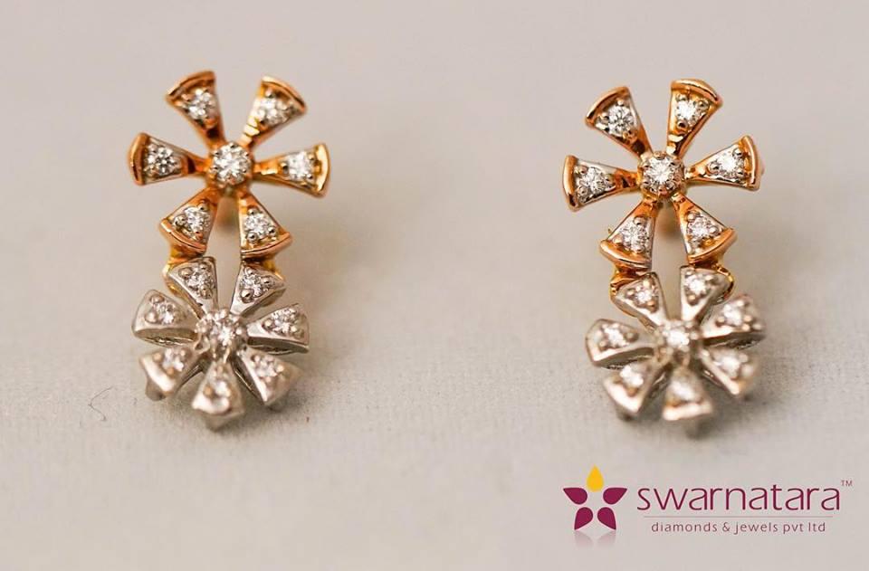 15 stone diamond earring