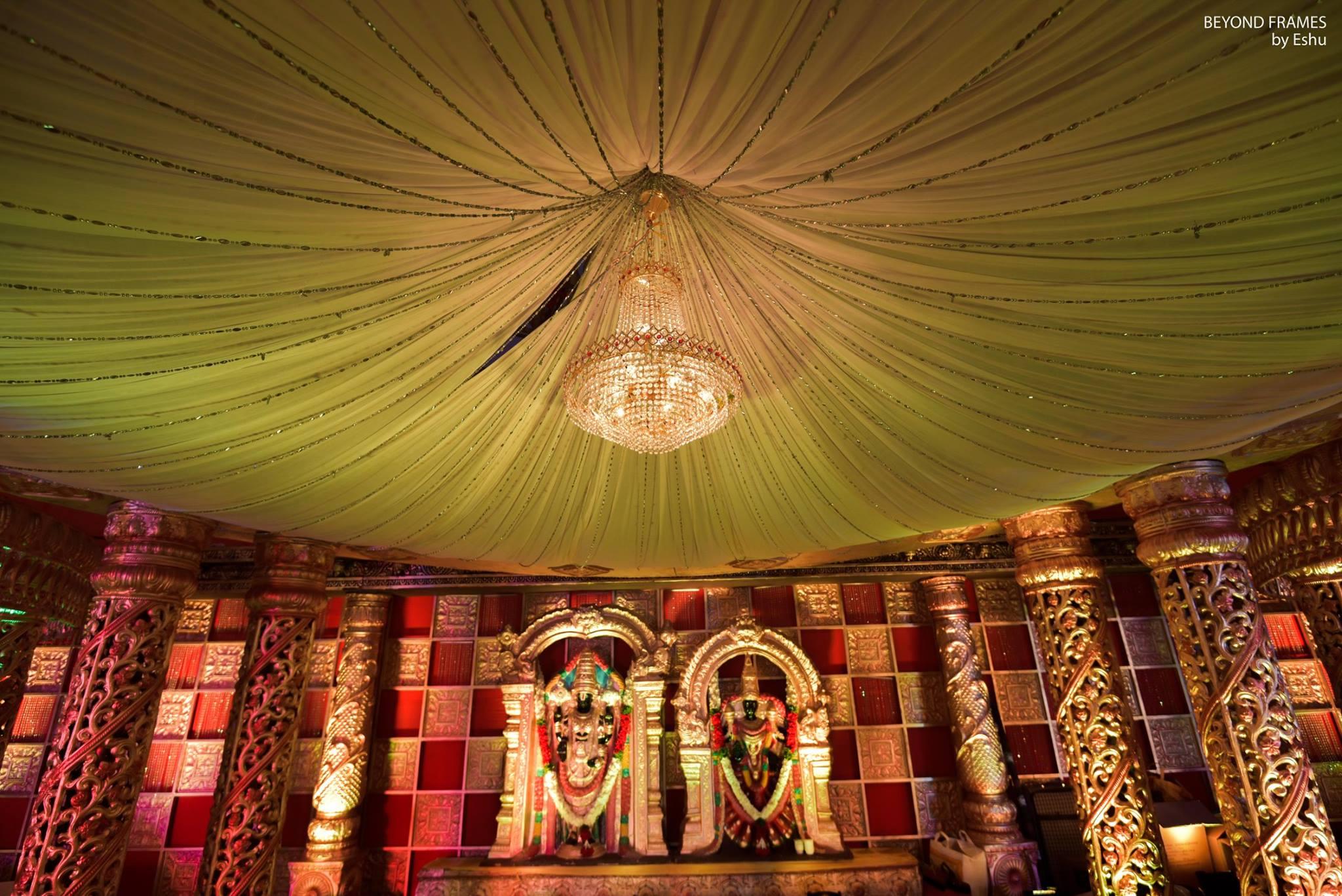 lord govinda idol stage decoration