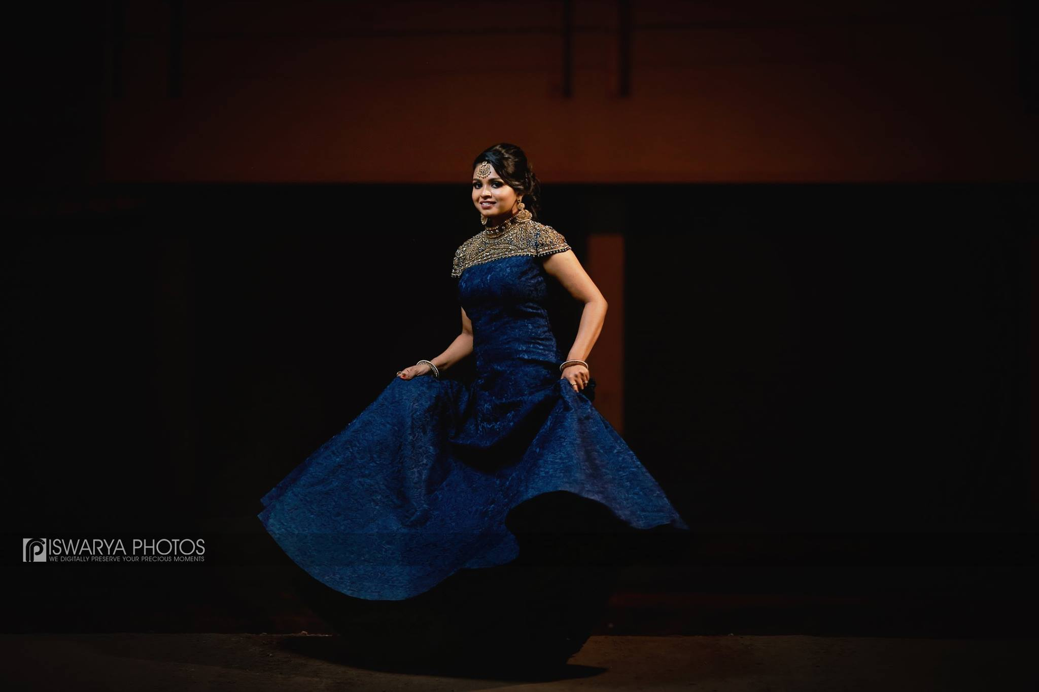 Royal Blue Bridal Jewelry Gown