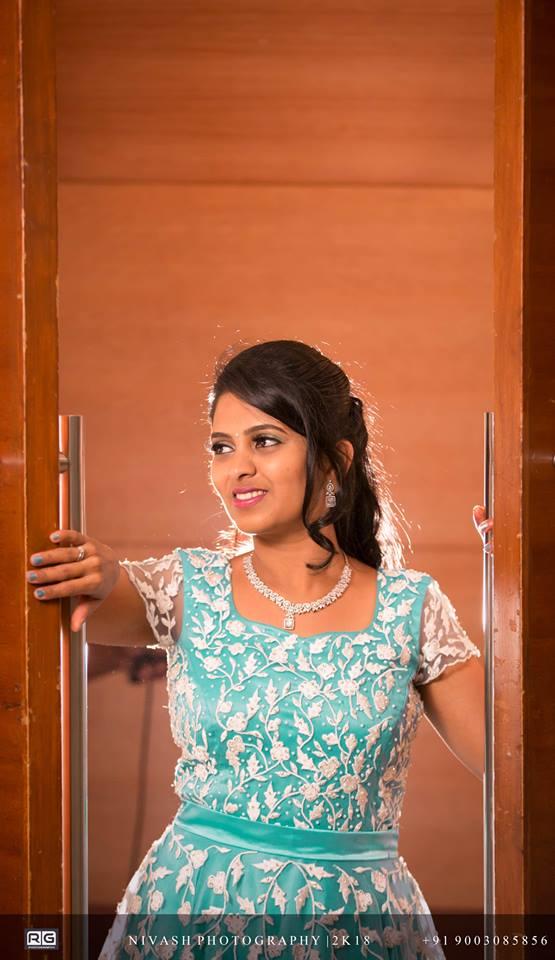 Pretty Cyan Bridal gown