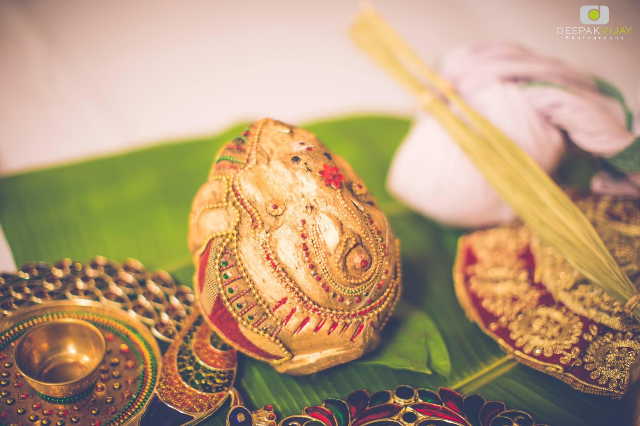 Ganesha Coconut Decoration