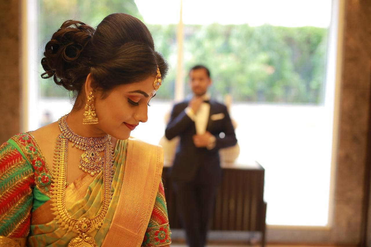 Bridal Hairstyle For Reception Indian Bridal Hairstyle Photo