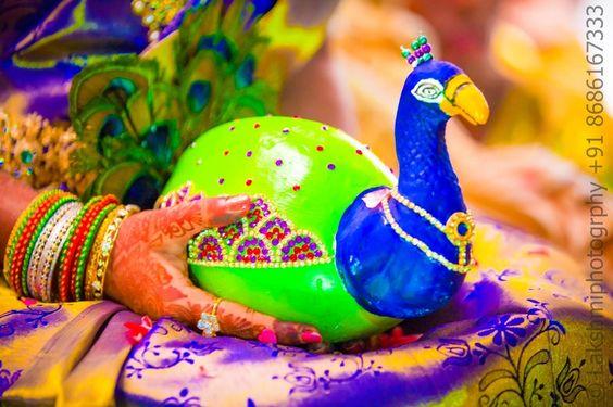 Embellished Coconut Decoration