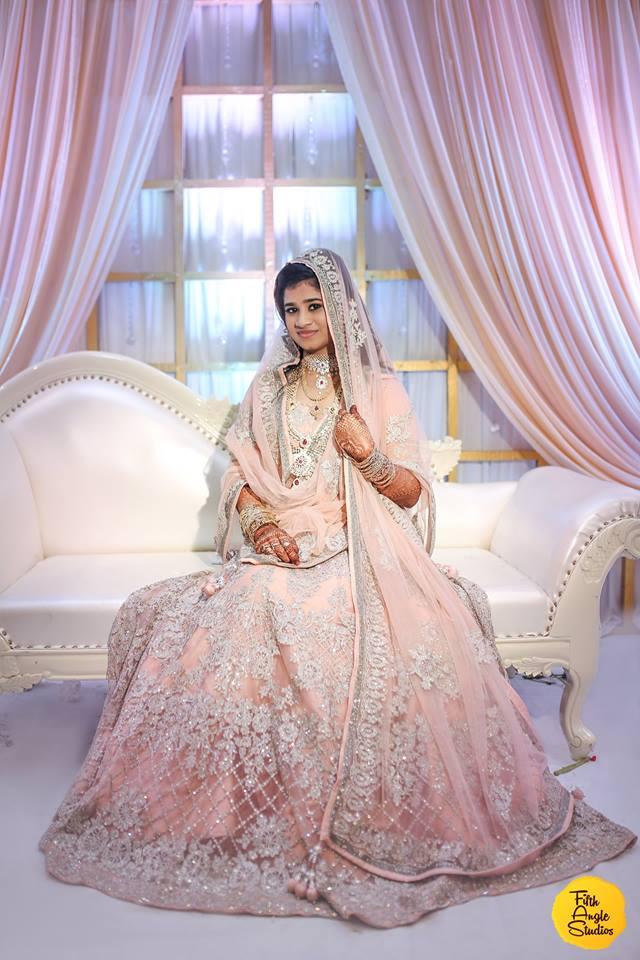 Heavy bridal pink lehnga