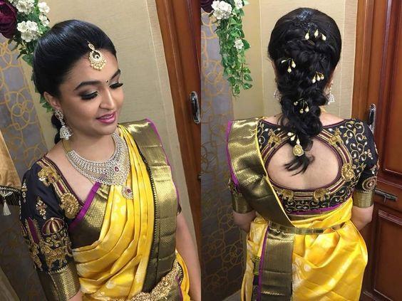 Cute Bridal Reception Hairstyle