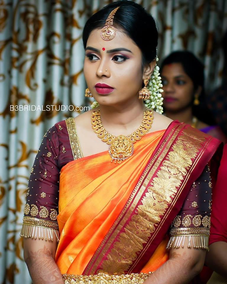 Simple dazzling bridal makeup