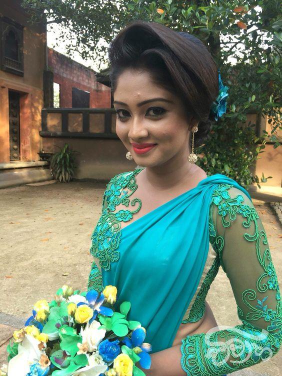 Blue Designer saree with heavy work blouse