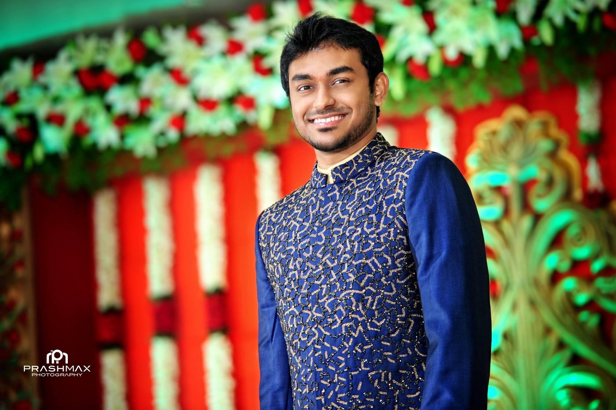 Royal Blue Glittering sherwani