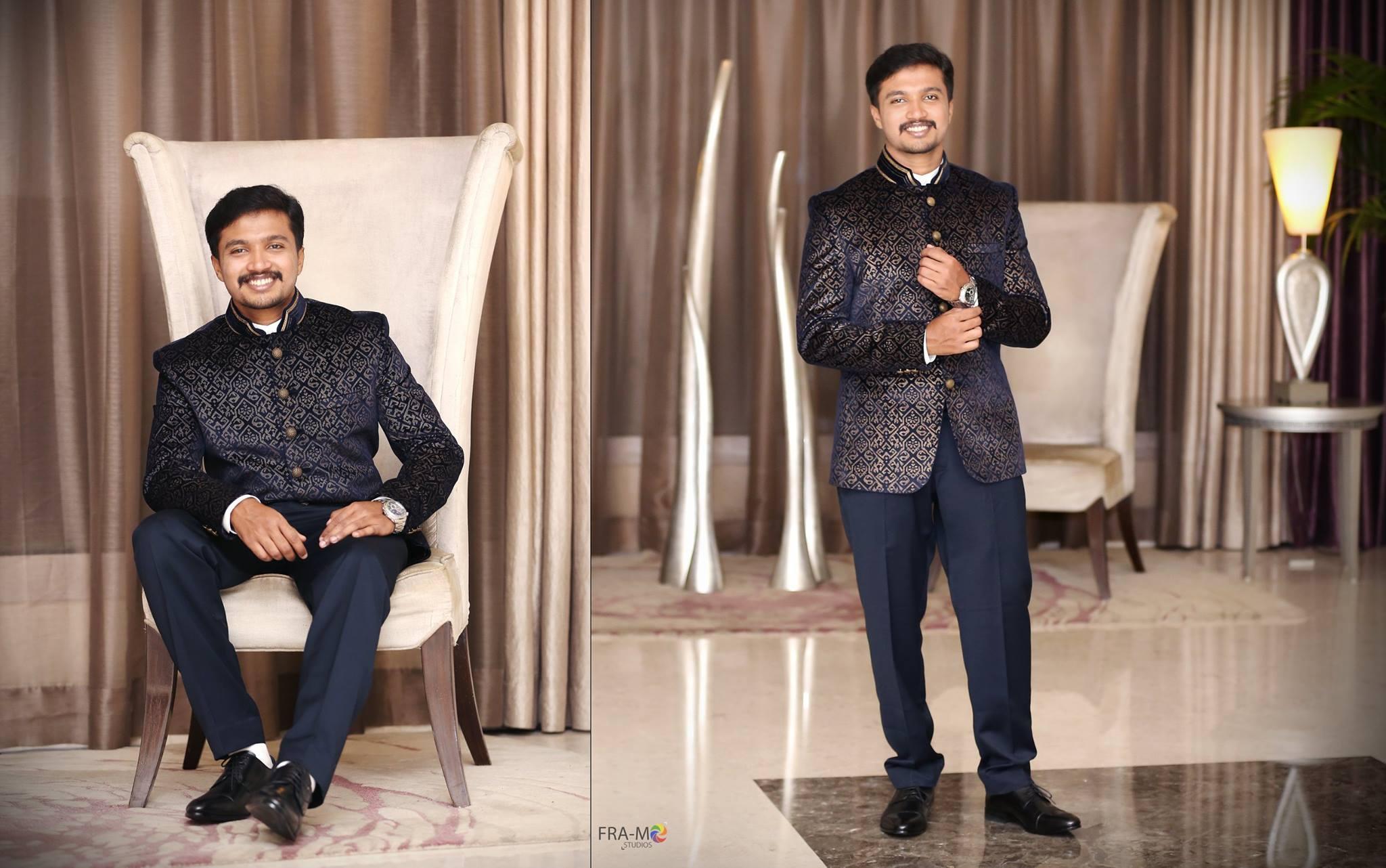 Royal blue sherwani shirt model