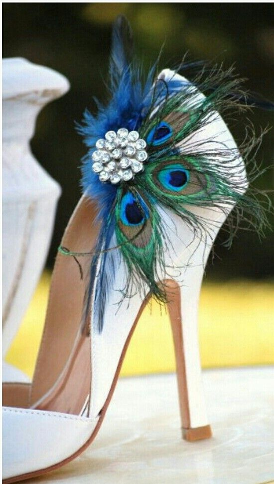 Peacock Feather Bridal Heel