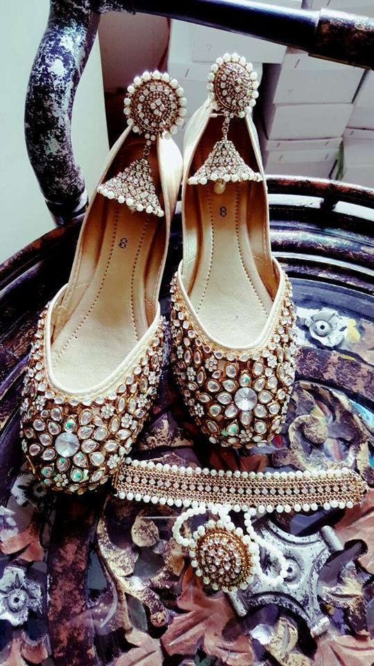 Kundan Stone Work Bridal Heel