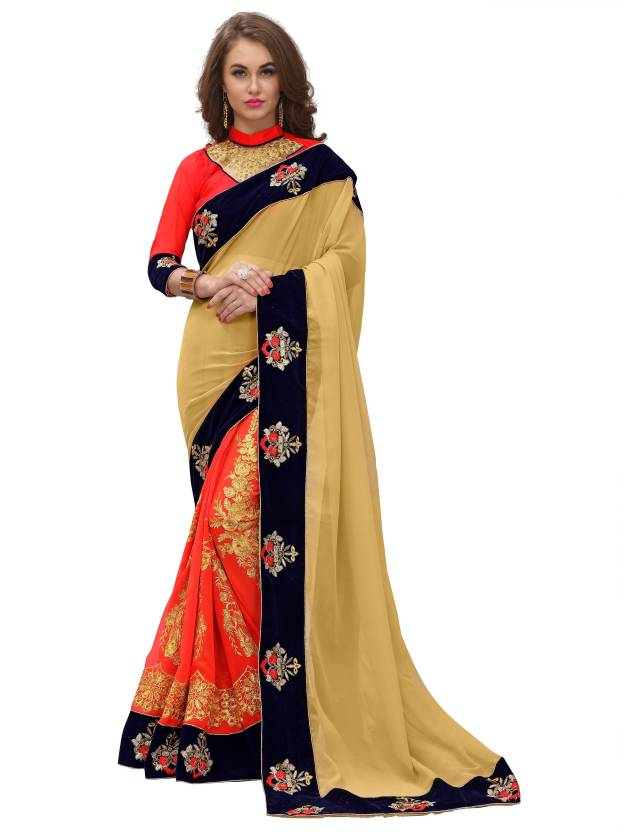 Embroidered Bollywood Georgette Saree